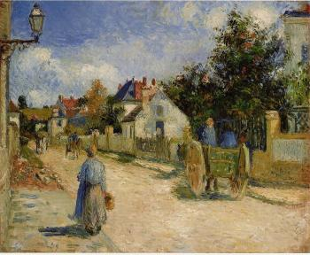 Camille Pissarro : A Street in Pontoise