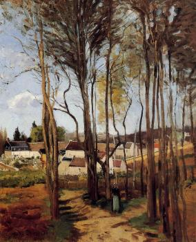 Camille Pissarro : A Village through the Trees