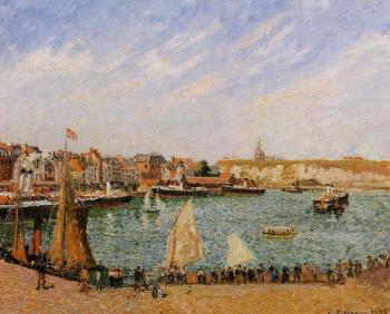 Camille Pissarro : Afternoon, Sun, the Inner Harbor, Dieppe