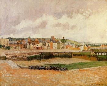 Camille Pissarro : Afternoon, the Dunquesne Basin, Dieppe, Low Tide