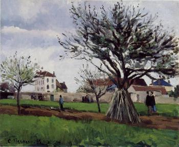 Camille Pissarro : Apple Trees at Pontoise, The Home of Pere Gallien