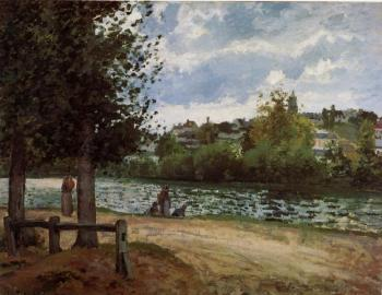 Camille Pissarro : Banks of the Oise in Pontoise