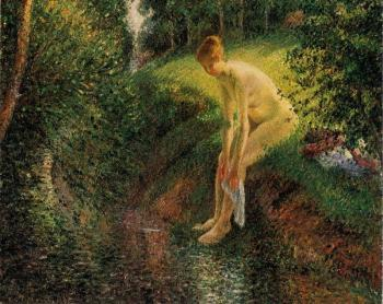 Camille Pissarro : Bather in the Woods
