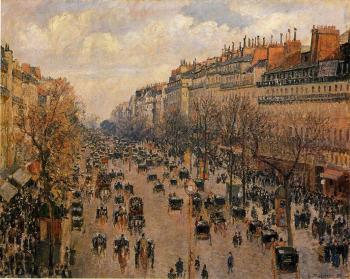 Camille Pissarro : Boulevard Montmartre, Afternoon, Sunlight