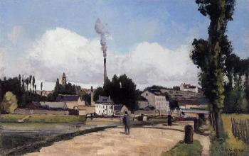 Camille Pissarro : By the Oise at Pontoise