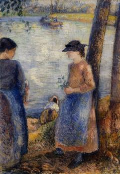Camille Pissarro : By the Water