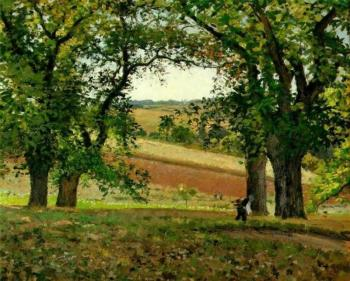 Camille Pissarro : Chestnut Trees at Osny