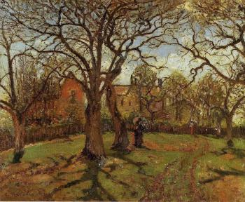 Camille Pissarro : Chestnut Trees, Louveciennes, Spring
