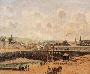 Camille Pissarro : Dieppe, Dunquesne Basin, Low Tide, Sun, Morning