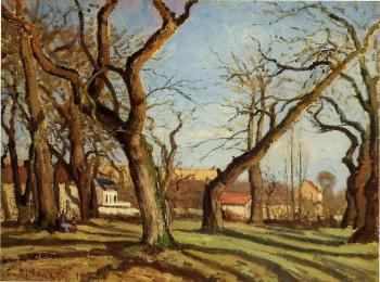 Camille Pissarro : Groves of Chestnut Trees at Louveciennes