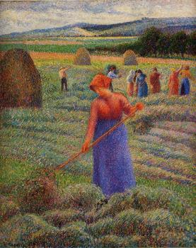 Camille Pissarro : Haymakers at Eragny