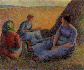 Camille Pissarro : Haymakers at Rest