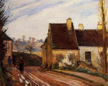 Camille Pissarro : Homes near the Osny