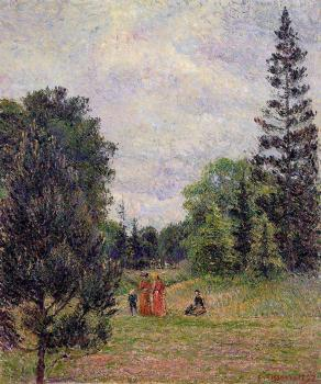 Camille Pissarro : Kew Gardens, Crossroads near the Pond