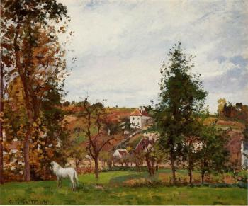 Camille Pissarro : Landscape with a White Horse in a Meadow, L'Hermitage