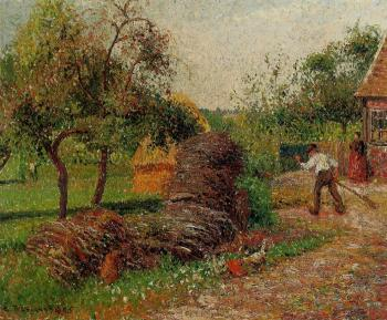 Camille Pissarro : Mother Lucien's Yard