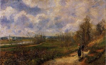 Camille Pissarro : Pathway at Chou, Pontoise