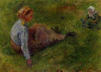 Camille Pissarro : Peasant Sitting with Infant