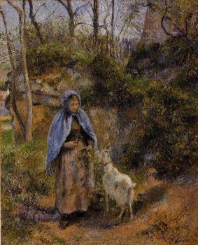 Camille Pissarro : Peasant Woman with a Goat