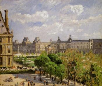 Camille Pissarro : Place du Carrousel, the Tuileries Gardens