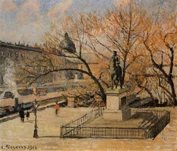 Camille Pissarro : Pont-Neuf, the Statue of Henri IV, Morning, Sun