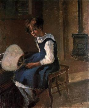 Camille Pissarro : Portrait of Jeanne with a Fan