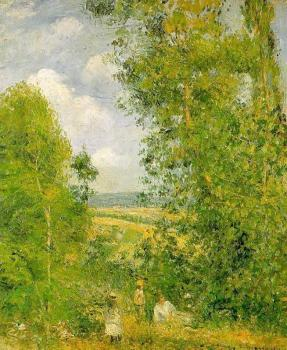 Camille Pissarro : Resting in the Woods at Pontoise II