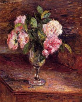 Camille Pissarro : Roses in a Glass