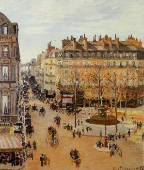 Camille Pissarro : Rue Saint-Honore, Sun Effect, Afternoon