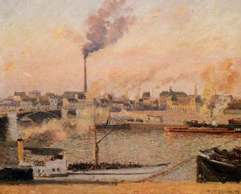 Camille Pissarro : Saint-Sever, Rouen, Morning, Five O'Clock