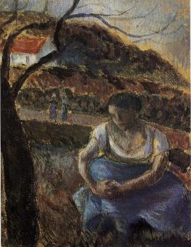 Camille Pissarro : Seated Peasant Woman