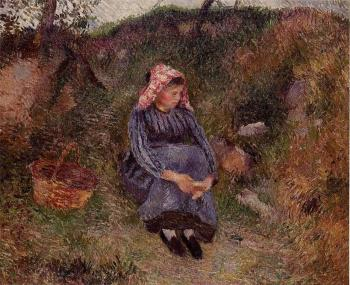Camille Pissarro : Seated Peasant Woman II