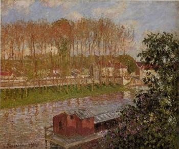 Camille Pissarro : Setting Sun at Moret