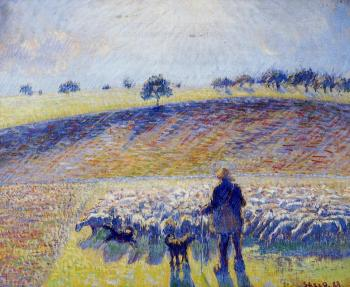 Camille Pissarro : Shepherd and Sheep
