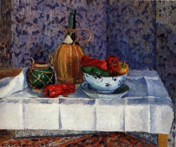Camille Pissarro : Still Life with Spanish Peppers