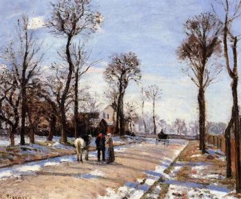 Camille Pissarro : Street, Winter Sunlight and Snow