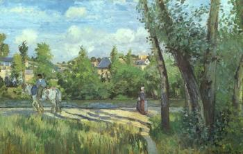 Camille Pissarro : Sunlight on the Road, Pontoise II