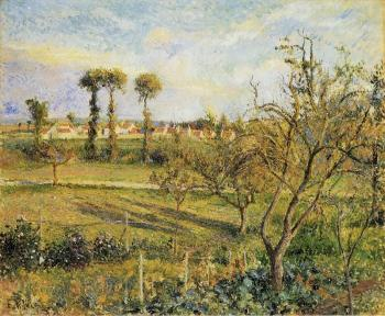 Camille Pissarro : Sunset at Valhermeil, near Pontoise