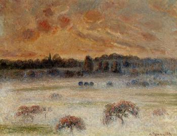 Camille Pissarro : Sunset with Fog, Eragny