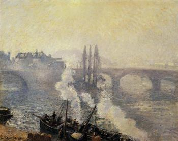 The Corneille Bridge, Rouen, Morning Mist
