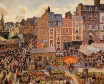 Camille Pissarro : The Fair, Dieppe, Sunny Afternoon