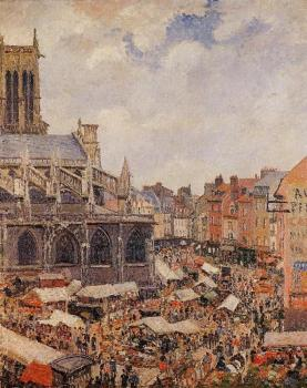 The Market by the Church of Saint-Jacques, Dieppe