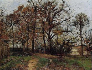 Trees on a Hill, Autumn, Landscape in Louveciennes