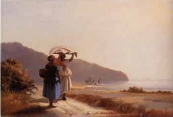 Two Woman Chatting by the Sea, St Thomas
