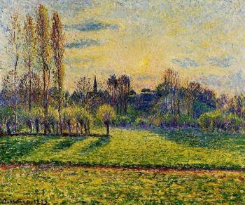 View of Bazincourt, Sunset