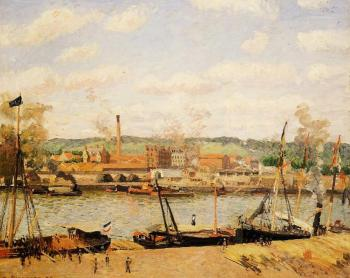 View of the Cotton Mill at Oissel, near Rouen