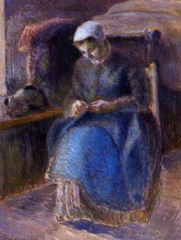 Camille Pissarro : Woman Sewing