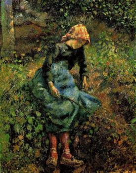 Camille Pissarro : Young Peasant Girl with Stick