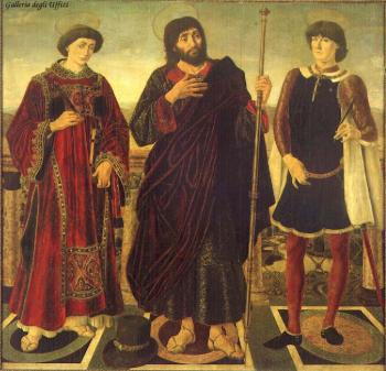 Antonio Del Pollaiolo : Altarpiece of the SS Vincent, James and Eustace