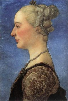 Antonio Del Pollaiolo : Portrait of a Young Woman II